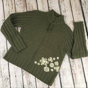 Columbia Wool Sweater Cardigan Jacket Large